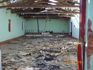 ஒரிசாவில் இடித்து நொறுக்கப்பட்ட ஒரு தேவாலயம்.